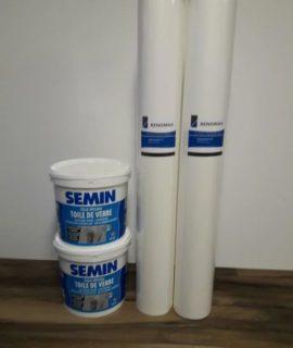 100m2 Super Renovlies Behang Glad 130 Grams + 2 Emmers Renovlies Lijm